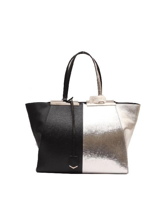 Fendi 3 Jours Black and Silver Tote Bag