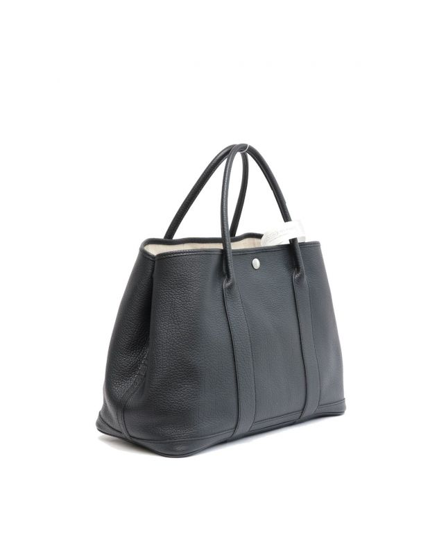 HERMES BLACK GARDEN PARTY 30 TOTE BAG