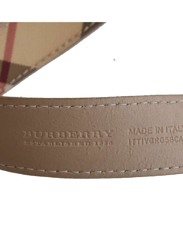 BURBERRY NOVA CHECK SLIM BELT