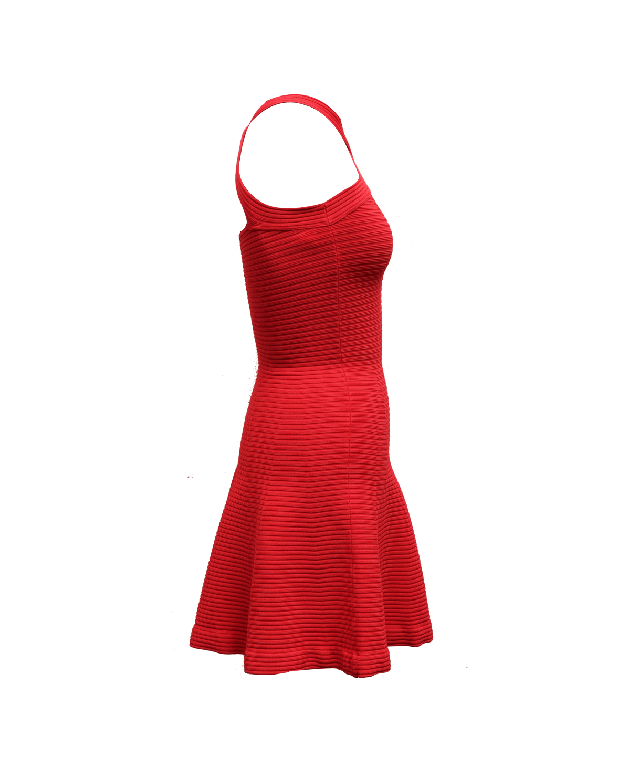 Alexander Wang Red Halter Neck Dress Size XS