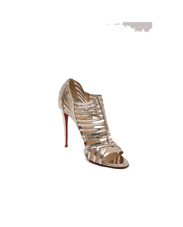 Christian Louboutin Gold Gladiator Heels - Size 37