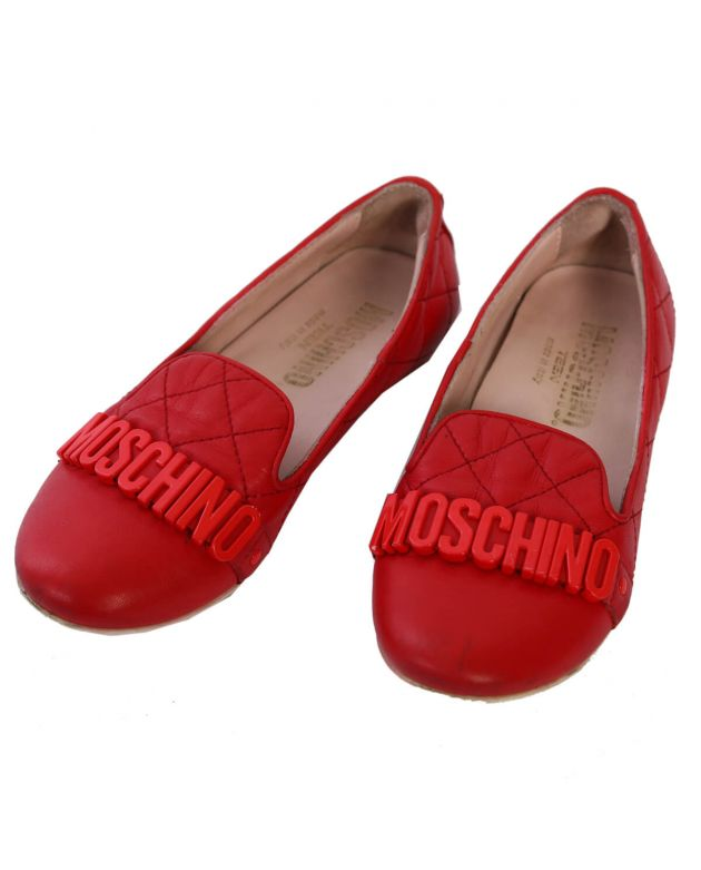 Moschino Red Belle Flats - Size 30
