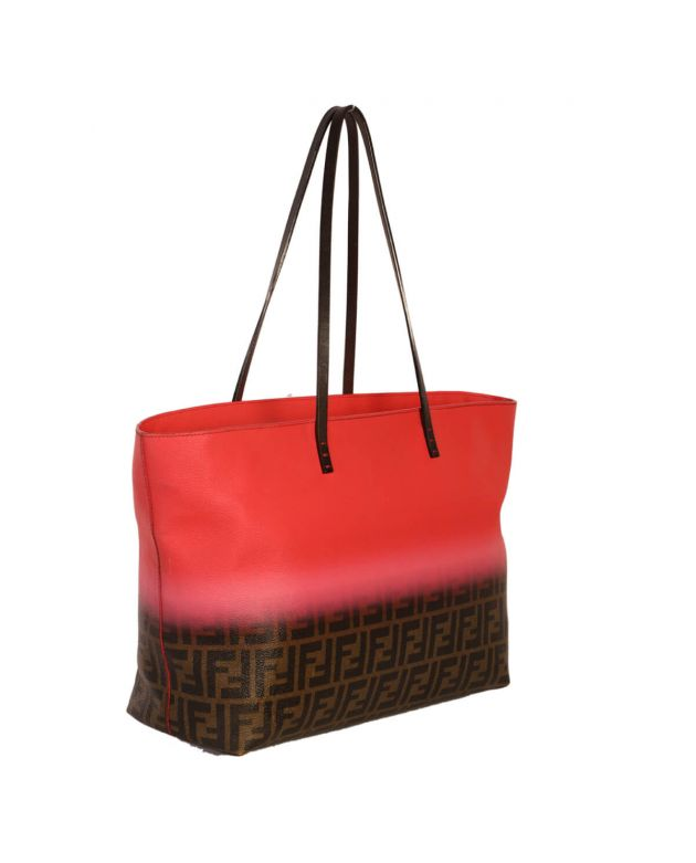 Fendi Ombre Zucca Pink Coated Canvas Tote