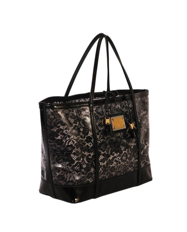 D&G Miss Sicily Lace Print Tote