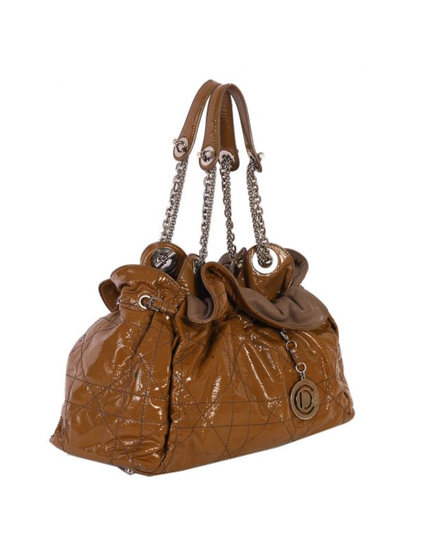 Christian Dior Brown Cannage Leather Le Trente Bag