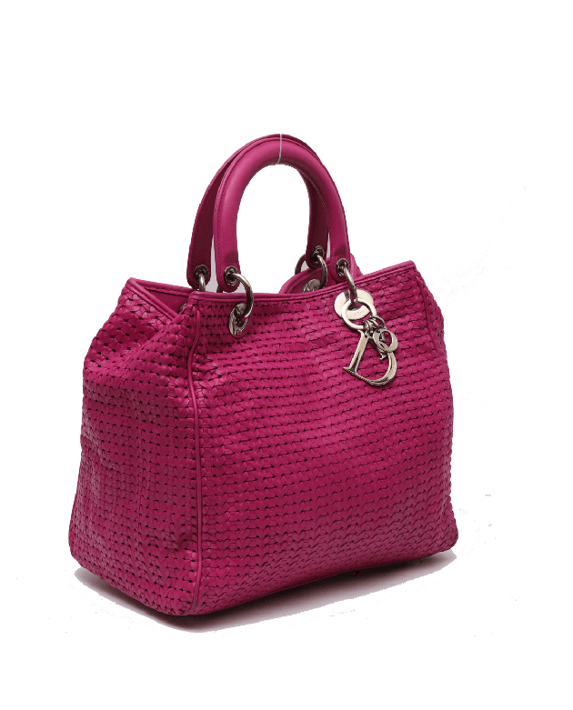 Christian Lady Dior Interwoven Tote Bag