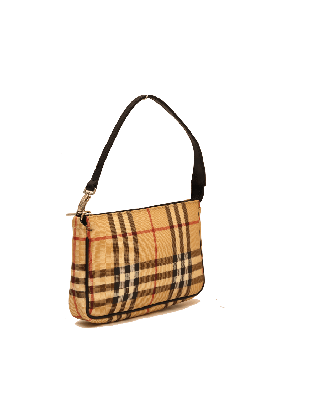 BURBERRY NOVA CHECK CANVAS POCHETTE