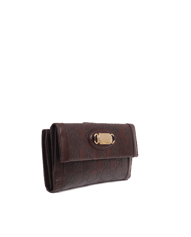 Gucci Brown Guccissima Wallet