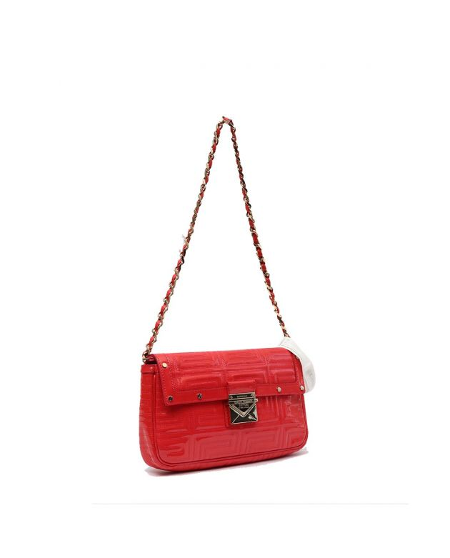 6c135ba3eafa4 VERSACE RED QUILTED FRONT FLAP BAG