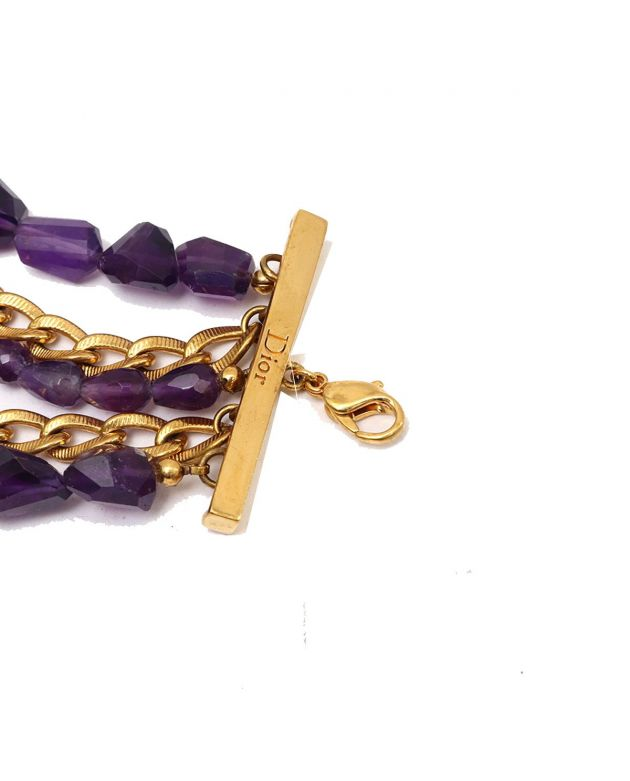 CHRIATIAN DIOR PURPLE BRACELET