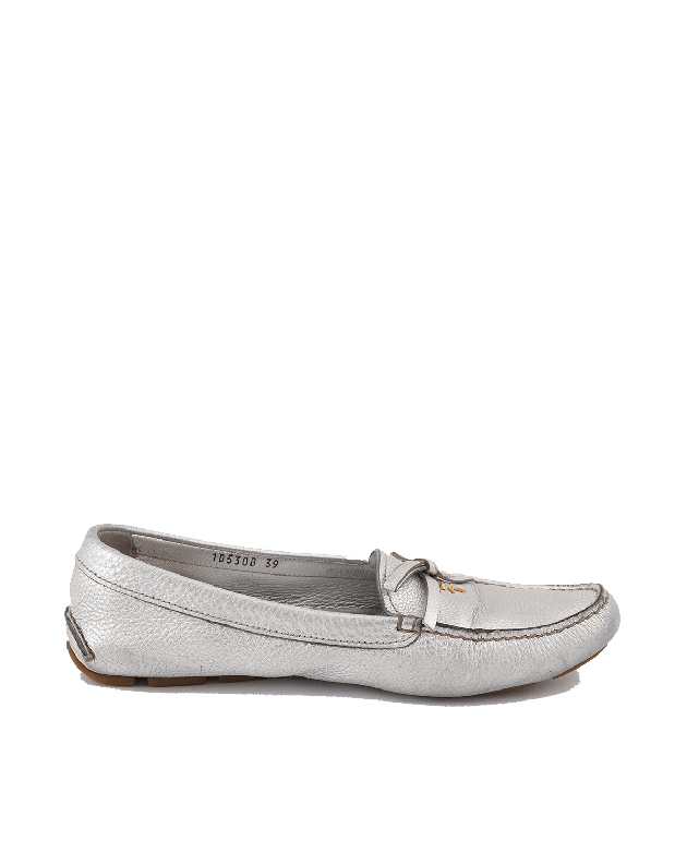 Prada Silver Loafers Size -39