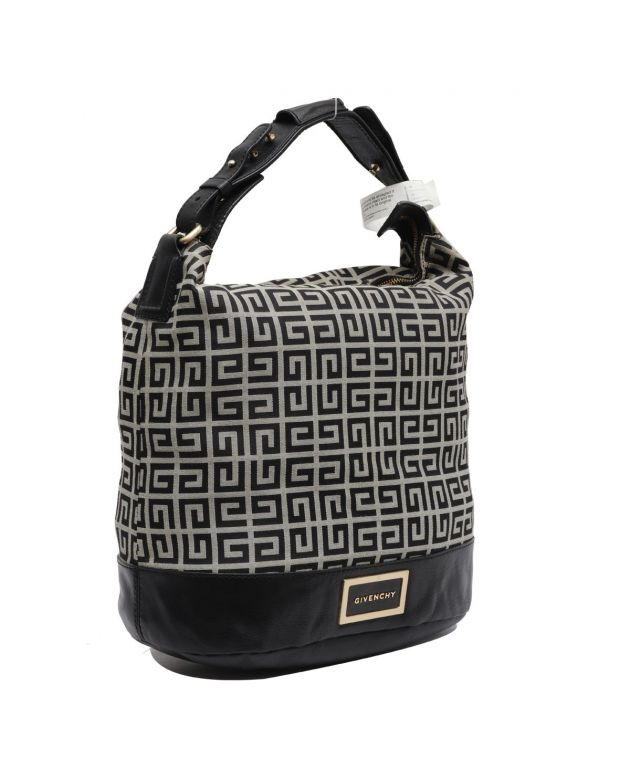 GIVENCHY MONOGRAM CANVAS SHOULDER BAG