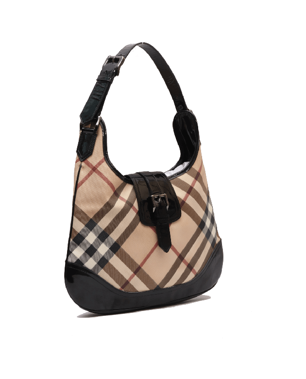 Burberry Check Hobo shoulder Bag