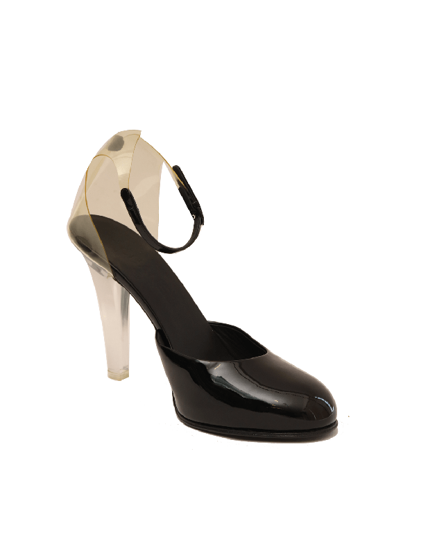 Chanel Black Transparent Heels Size 40.5
