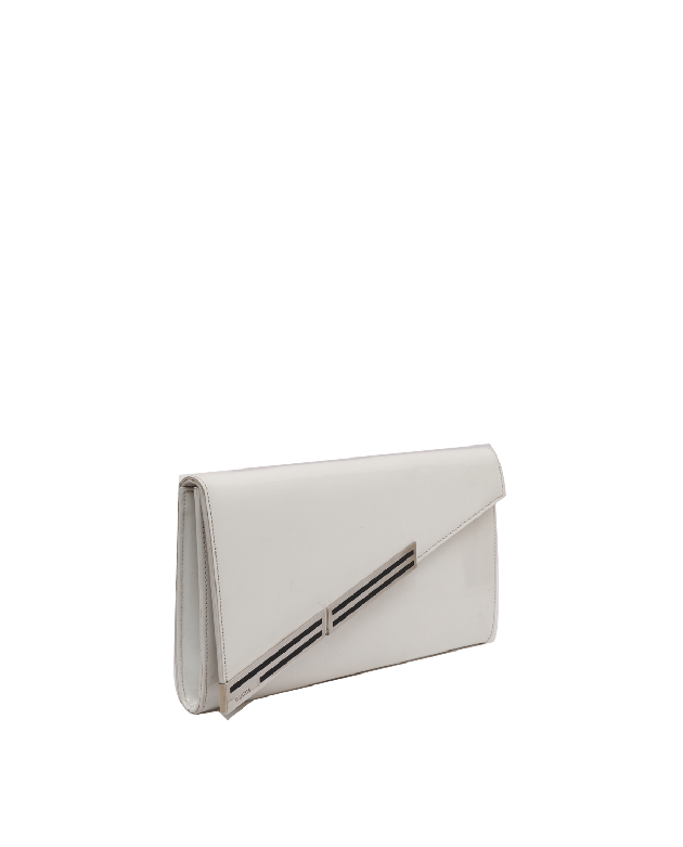 Gucci white patent leather clutch