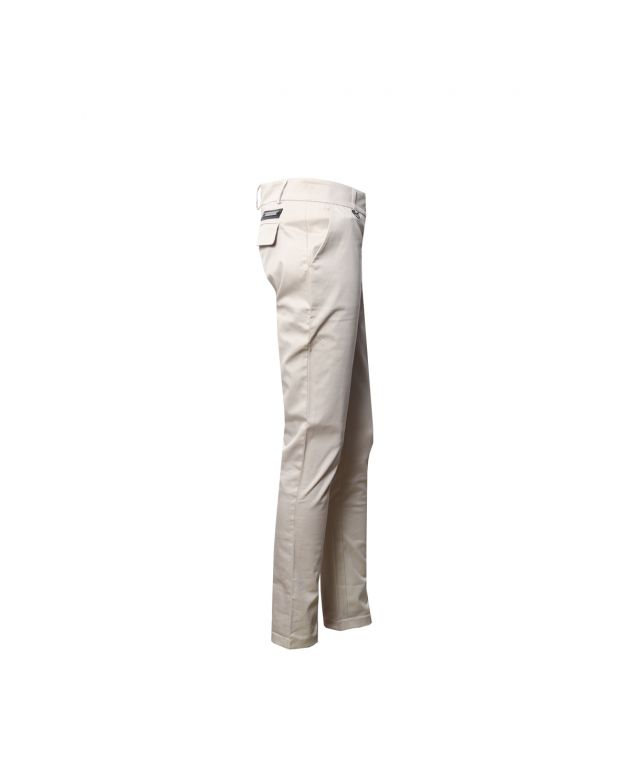 BEIGE STRAIGHT TROUSERS UK 6