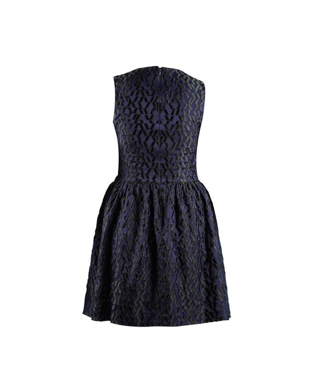 Alexander McQueen Blue Back Zip Dress Size - S