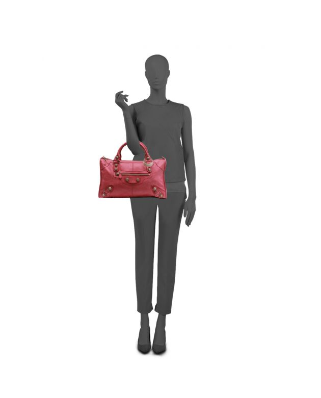 PINK MEDIUM CLASSIC CITY SHOPPER TOTE
