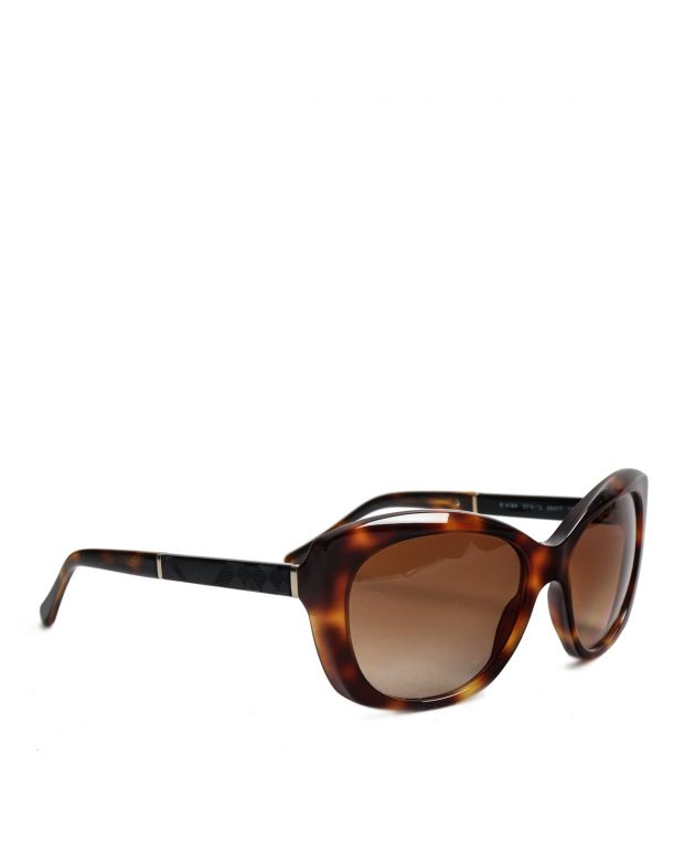Brown tortoise print acetate sunglasses