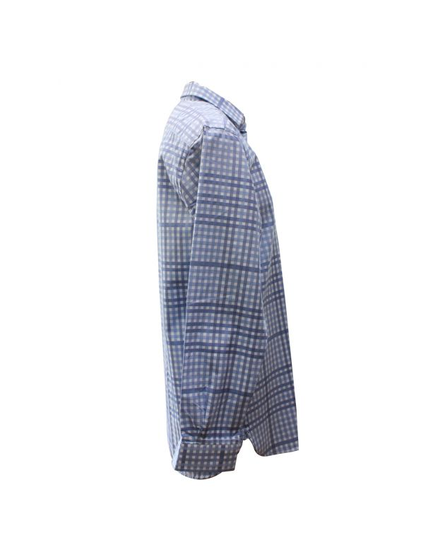 Mens Burberry London Blue Check Tailored Shirt Size 16 - 41