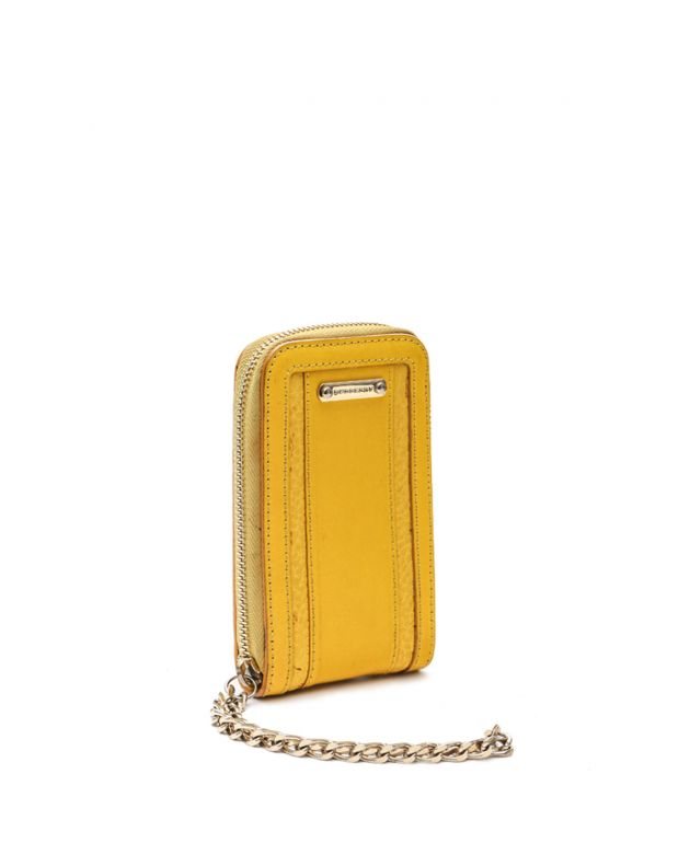 Yellow Leather Wristlet IPhone 5 Case