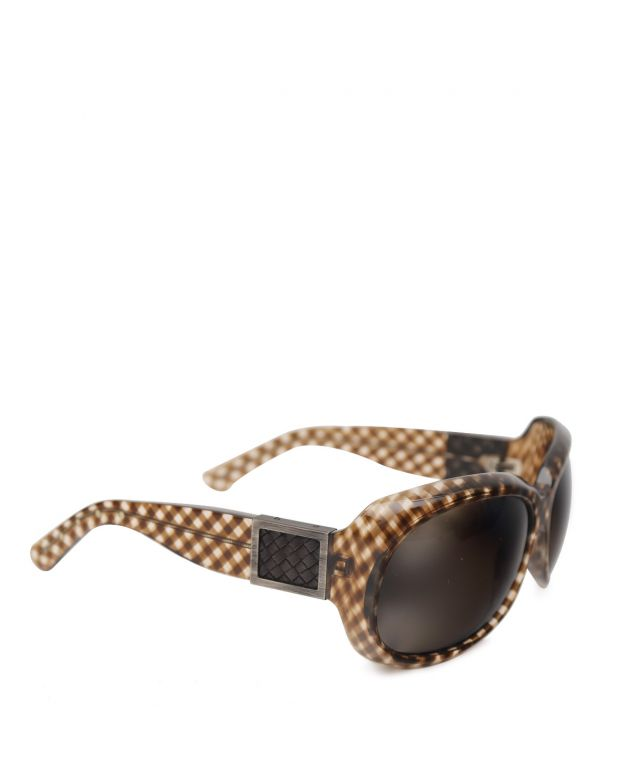 Brown Check Sunglasses