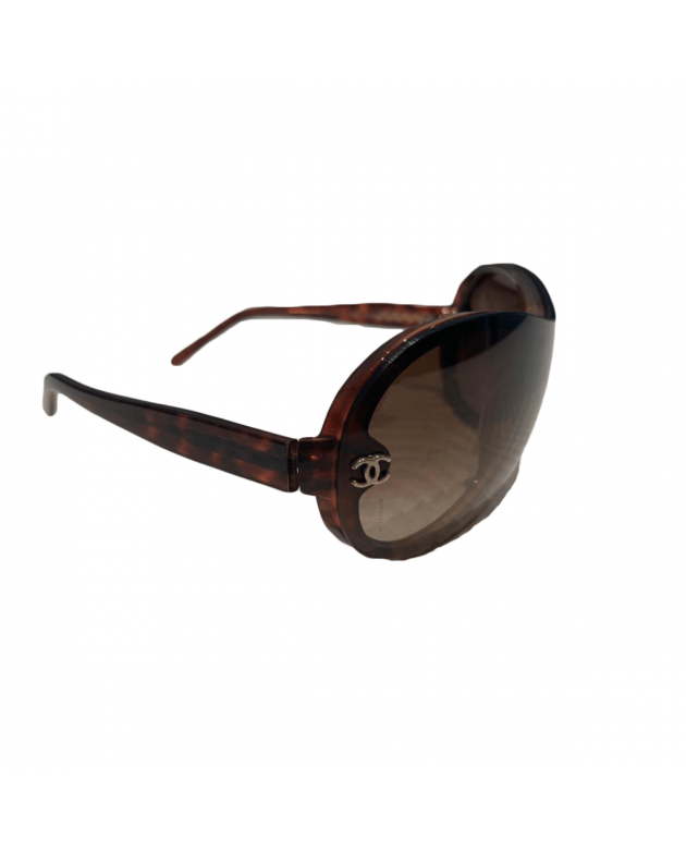 Chanel Oversized Brown Sunglasses