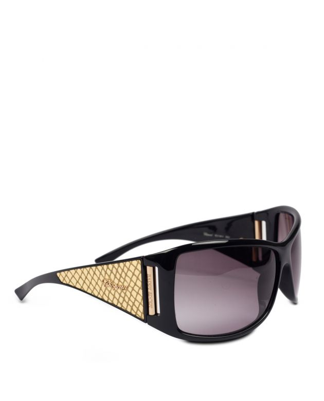 Chopard Black & Gold Embossed Sunglasses