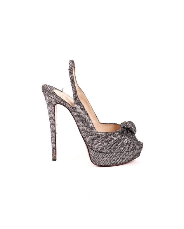 Christian Louboutin Silver Heels Size - 40.5