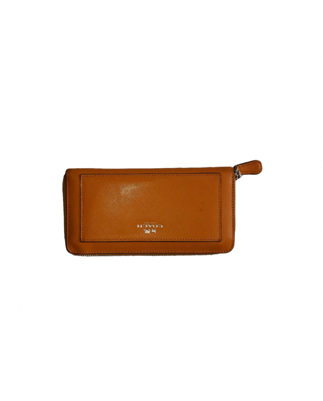 Orange Darcy Saffiano Leather Wallet