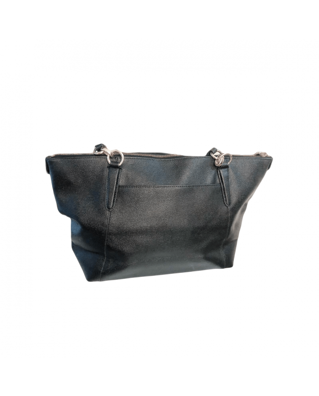 Black Small Kelsey Satchel in Pebbled Leather