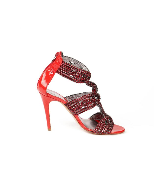 Gina Red Studdent Heels Size 5.5