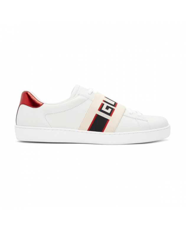 White New Ace Elastic Band Sneakers Size 5.5