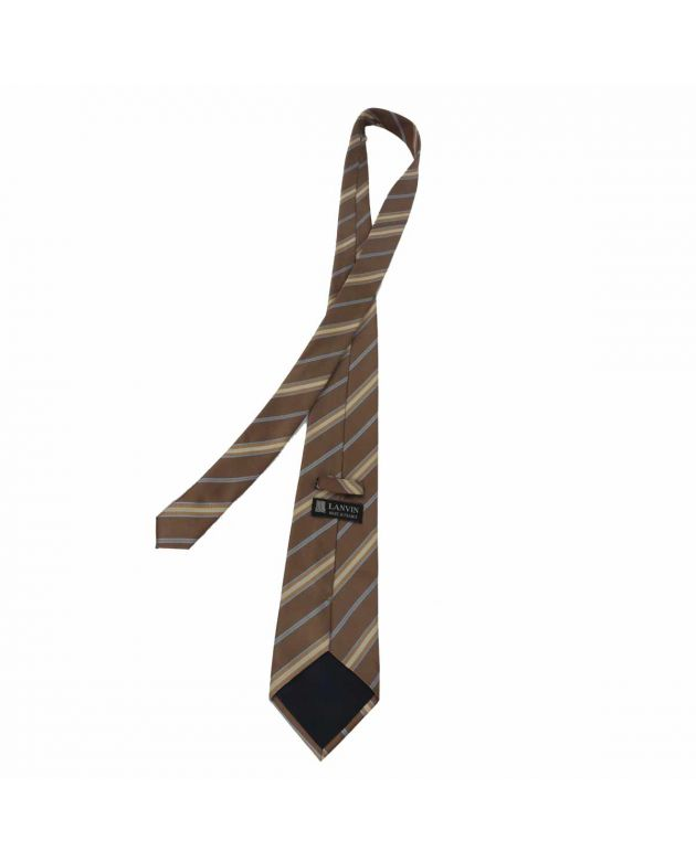 Lanvin Brown stripes Tie