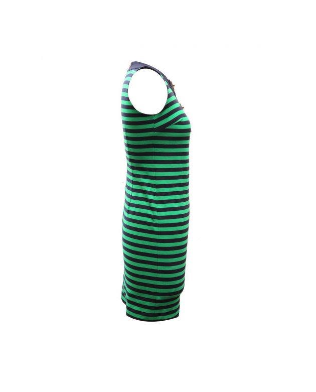 MICHAEL Michael Kors Green Black Dress Striped Dress