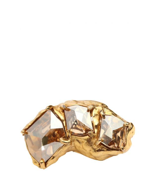 Gold Plated Crystal Clip Earrings