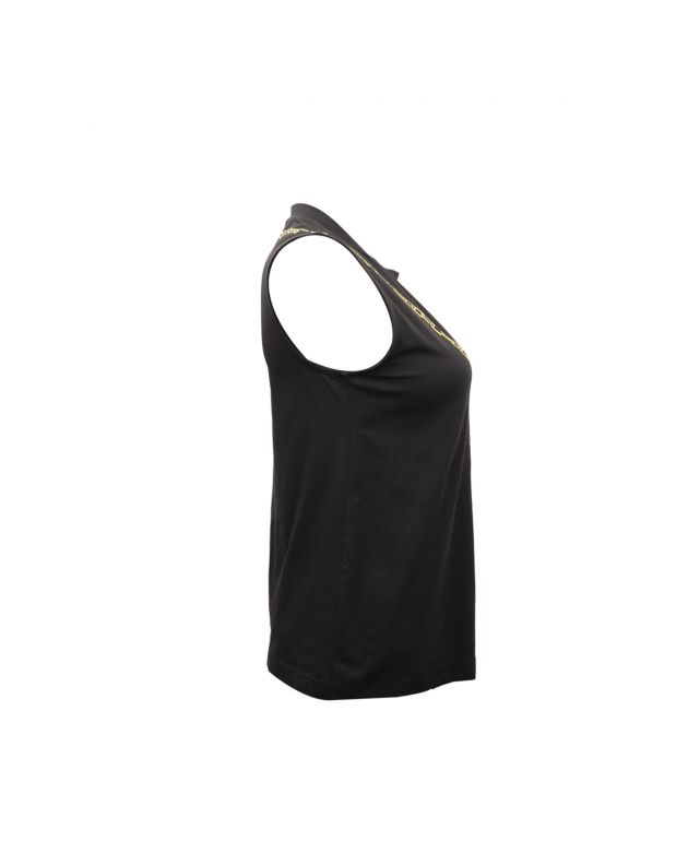 Lampourde womens vest top in black