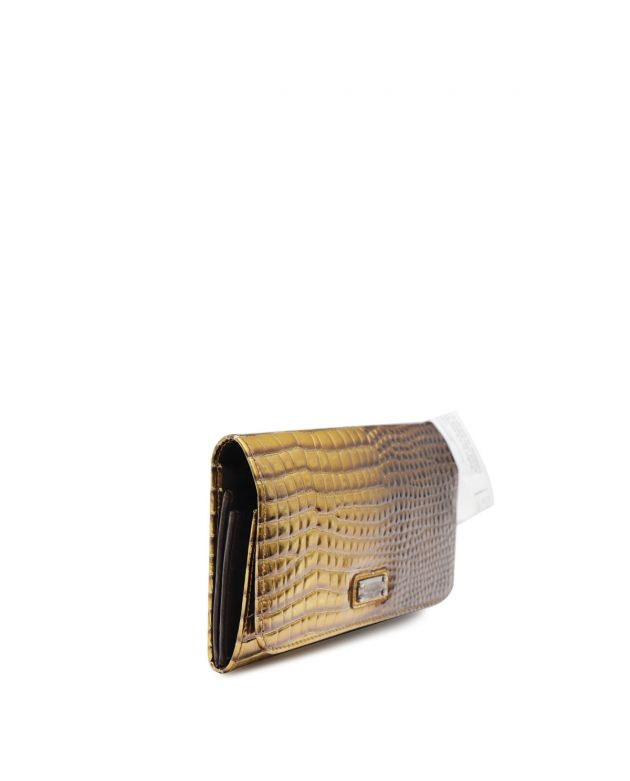 Gold and Brown Wallet