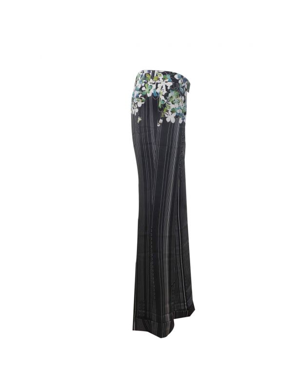 Womens Floral Stovepipe Trousers