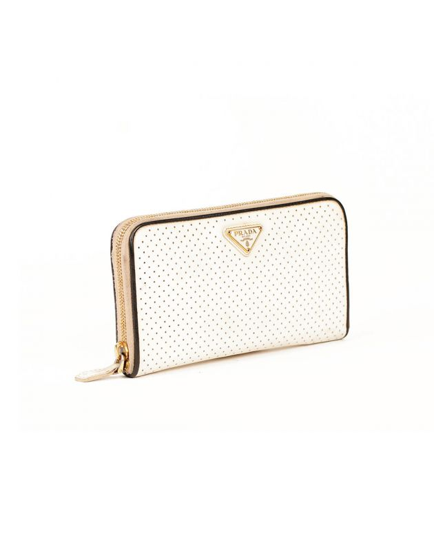 Prada Perforated Wallet