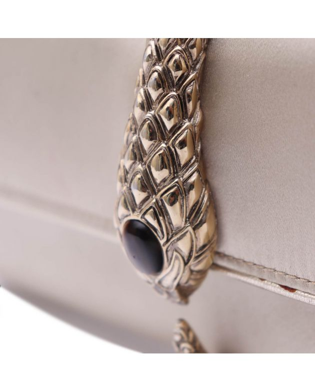 Satin Snake Clutch Evening bag