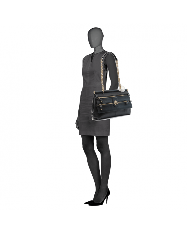 Roberto Cavalli Black Shoulder Bag