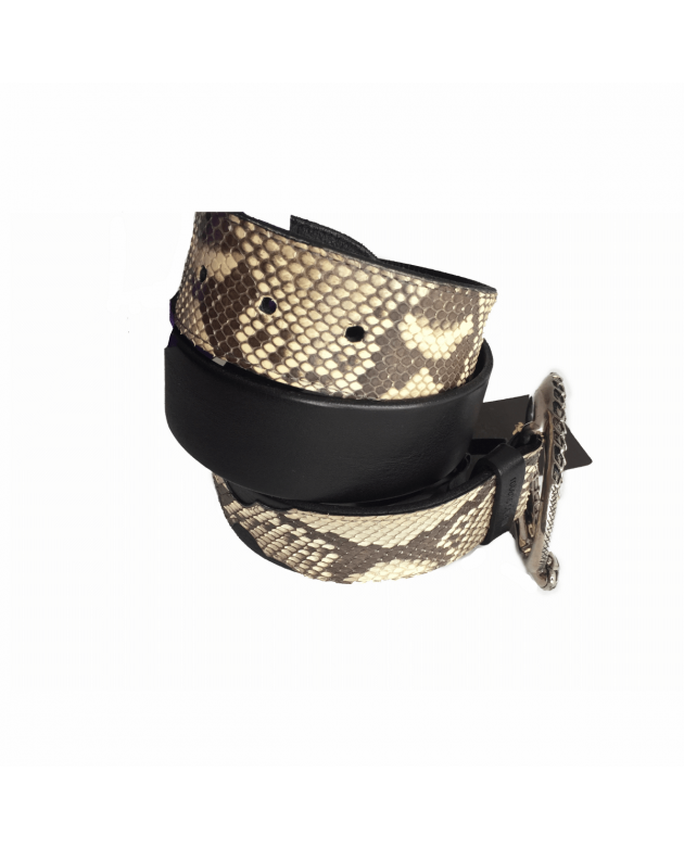 Python Turquoise Embossed Women's Buckle Belt Size - 32