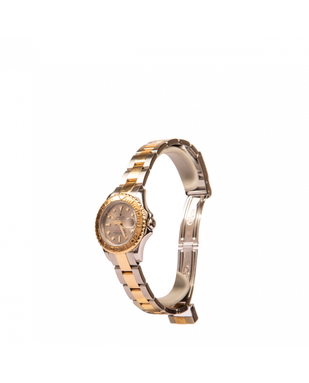 Women's Grey Dial Silver and Gold Yatcht Master 2001 31mm Watch