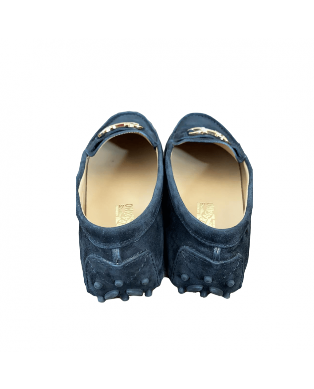 Saba Mini Kids Loafers in Nero Suede Calf Size - 32