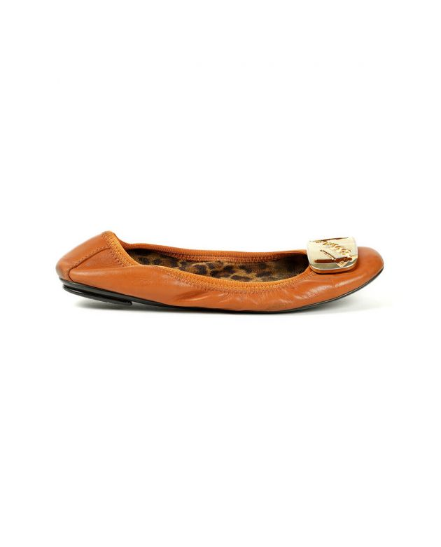 My Charm Brown Ballet Flats Shoes Size - 36.5