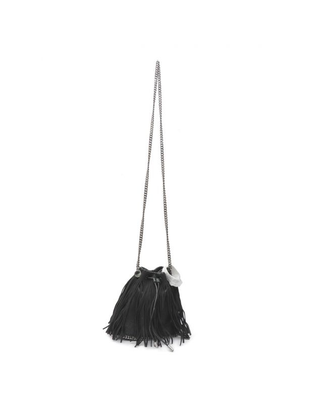 Falabella Fringed Faux Suede Bucket Bag