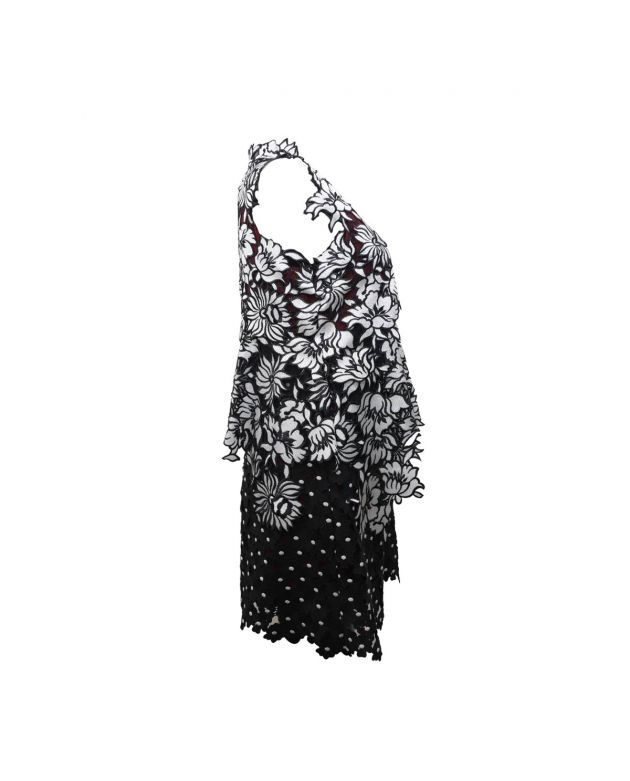 Millie Lace Black & White Floral Dress