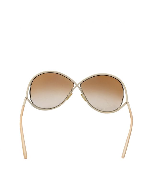 Womens White Whitney Sunglasses