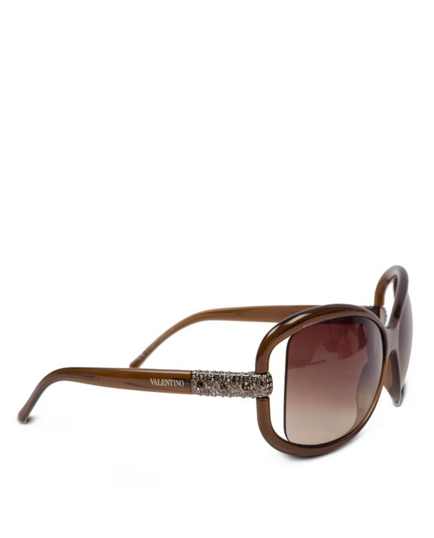 Valentino square embellished sunglasses